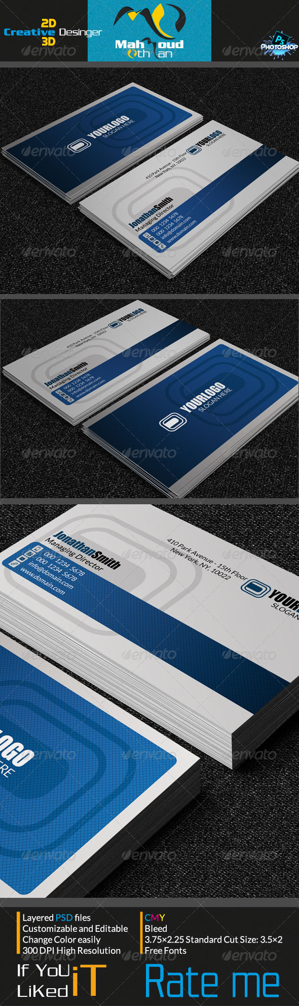 GraphicRiver Creative Business Card V04 7199084
