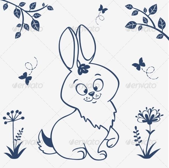 GraphicRiver Bunny Silhouette 7243325