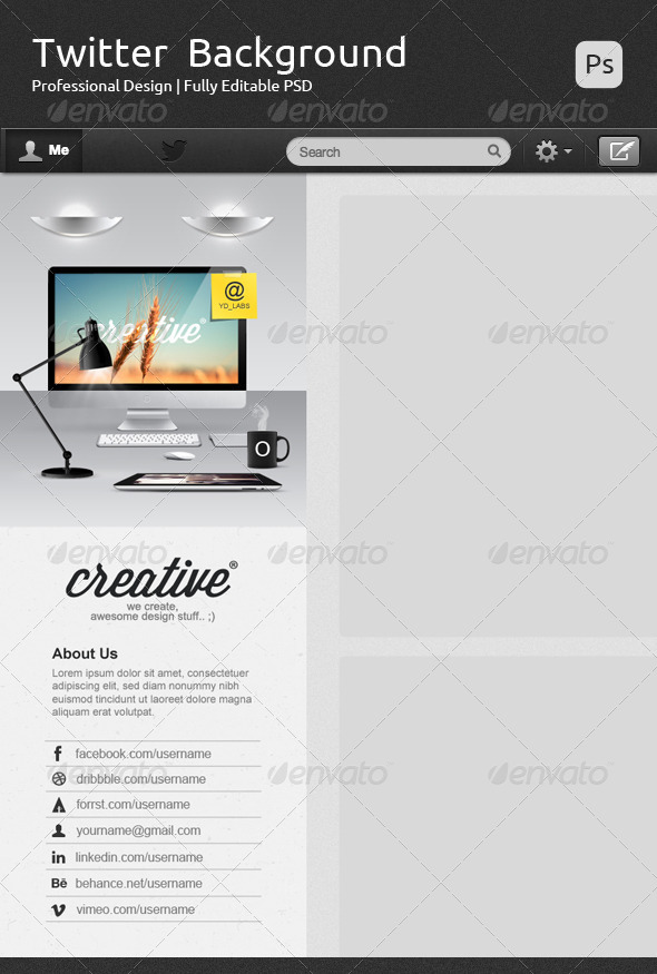 GraphicRiver Creative Twitter Background V2 7243481