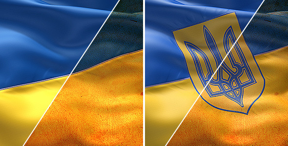 VideoHive Ukrainian Flags 7243492