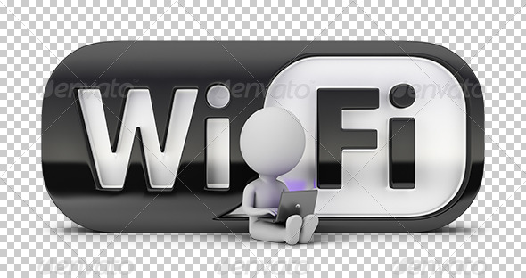 GraphicRiver 3D Small People WiFi 7243498