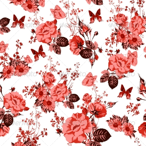 GraphicRiver Beautiful Seamless Roses Background 7243504
