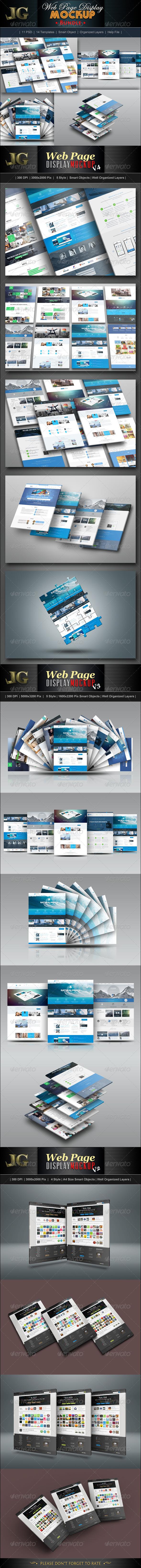 GraphicRiver Website Display Mockup Bundle 7243776
