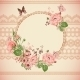 Vintage Floral Lace Background with Roses  - GraphicRiver Item for Sale