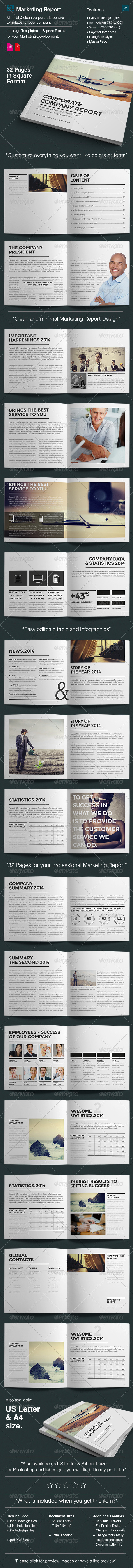 GraphicRiver Design Marketing Brochure Square Size v1 7244323