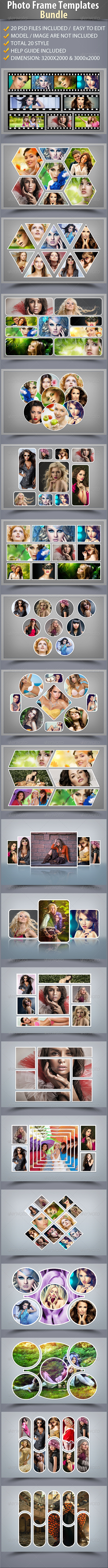 GraphicRiver Photo Frame Templates Bundle 7230367