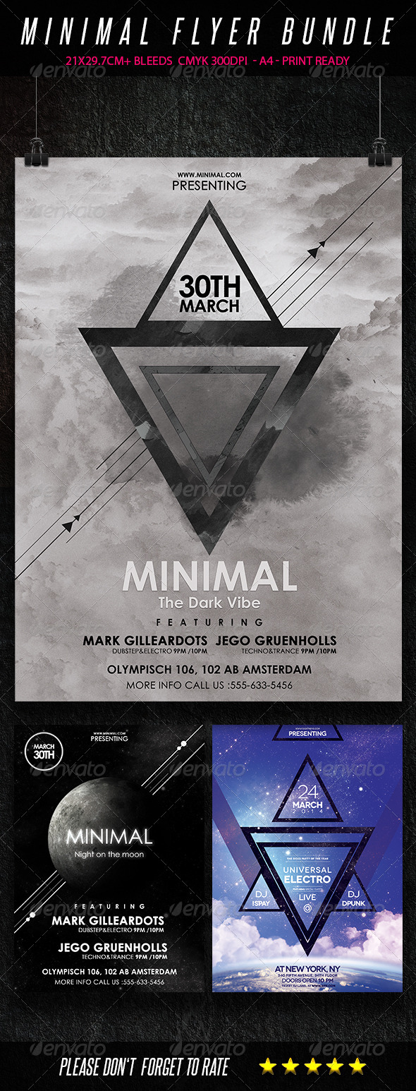 GraphicRiver Minimal Flyer Bundle 7244426