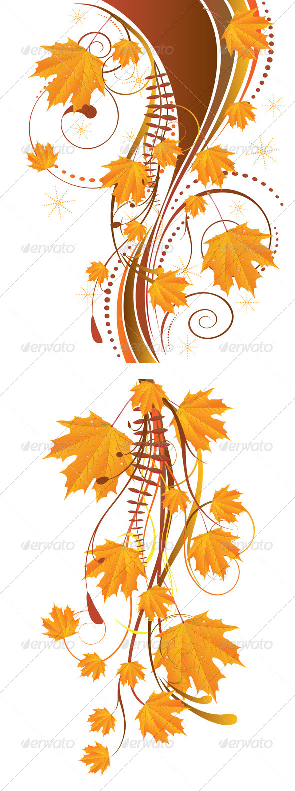 GraphicRiver Autumn Ornament with Maple Leaves 7244460