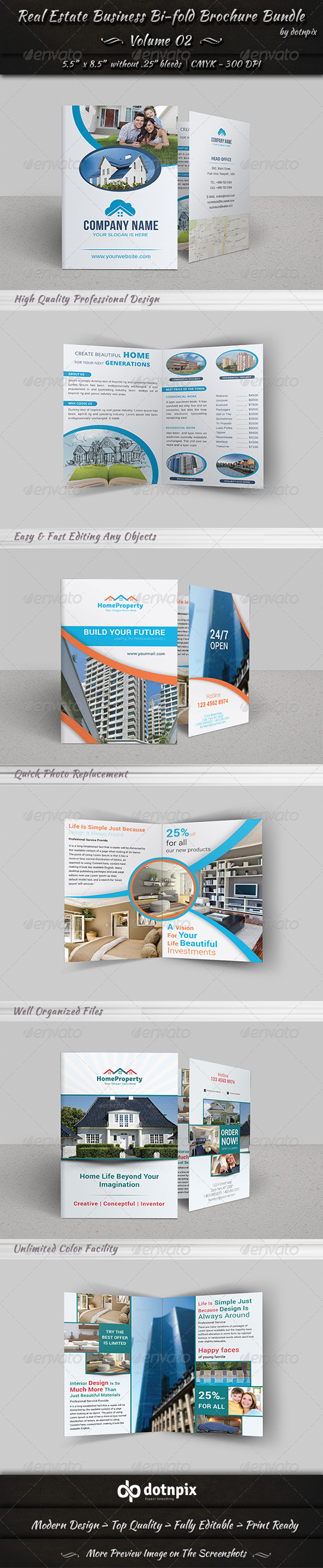 GraphicRiver Real Estate Bi-fold Brochure Bundle Volume 2 7244514
