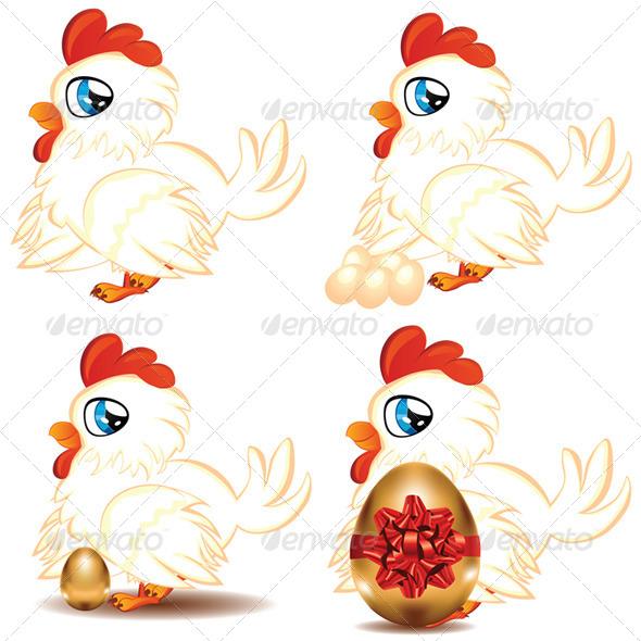 GraphicRiver Cartoon Chicken 7244554