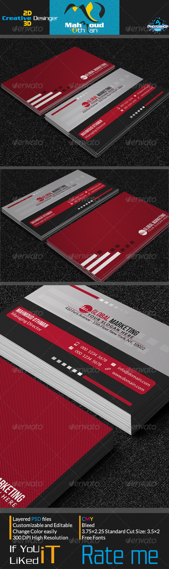 GraphicRiver Corportae Business Card V05 7244799