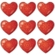Valentine Red Hearts with Pattern Set - GraphicRiver Item for Sale