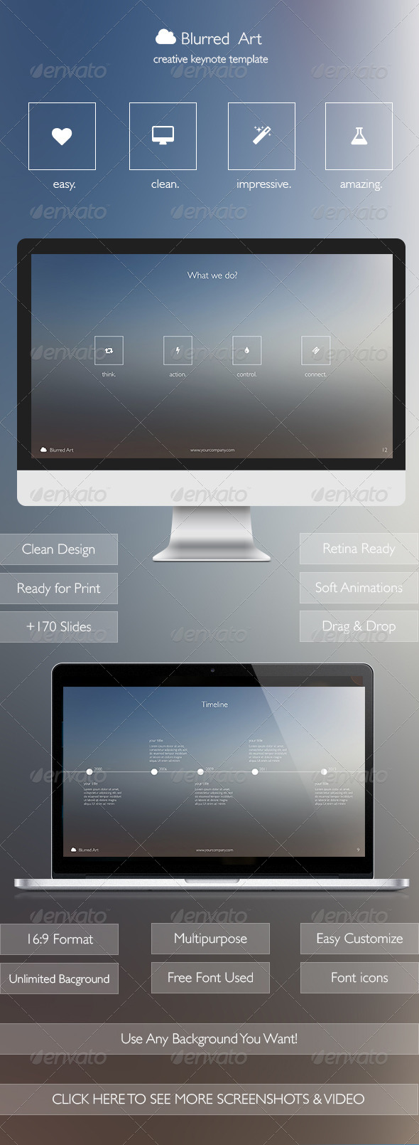 GraphicRiver Blurred Art Creative Keynote Template 7244892