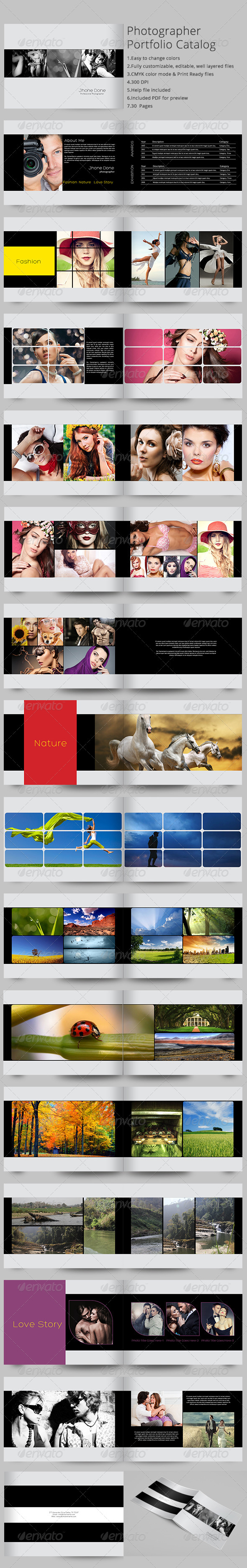 GraphicRiver Photographer Portfolio Catalog 7245077