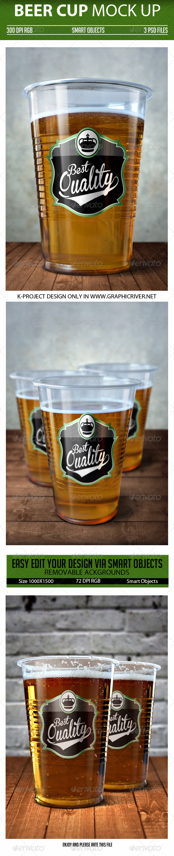 GraphicRiver Beer Cup Mock Up 7245156