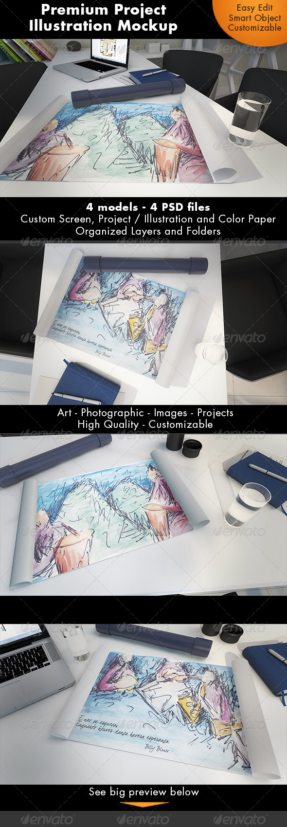 GraphicRiver Project Illustration Mockup 7245208