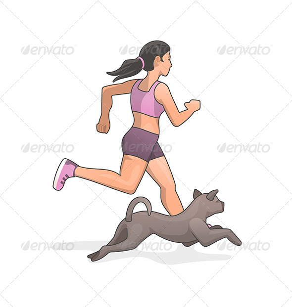 GraphicRiver Jogging with Dog 7245260