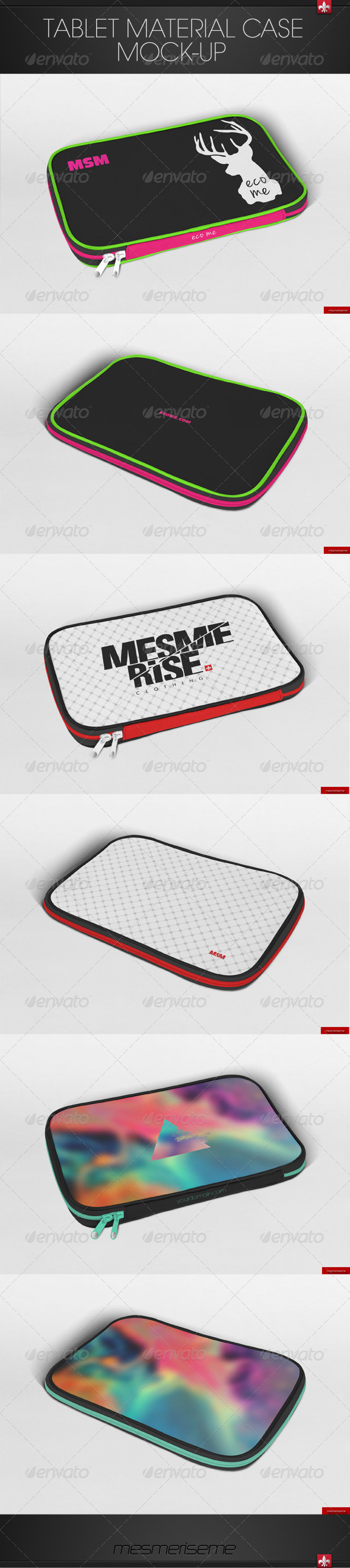 GraphicRiver Tablet Material Case Mock-up 7245261
