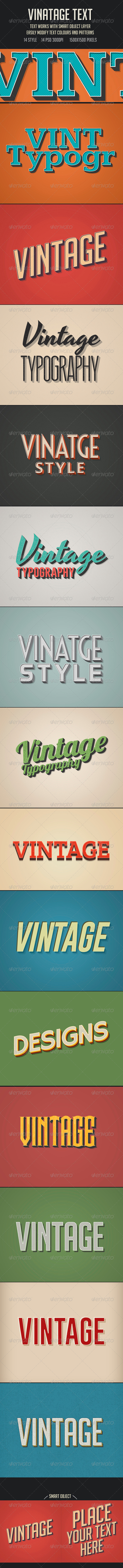 GraphicRiver Vintage Retro Text 7245276