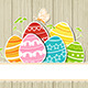 Wooden Easter Background with Eggs - GraphicRiver Item for Sale