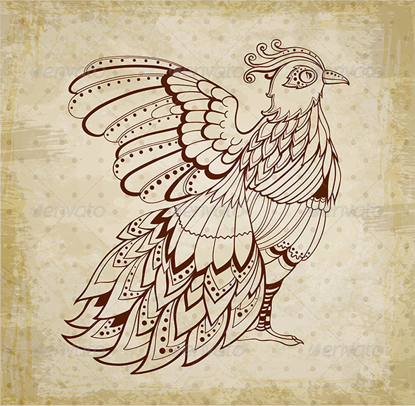 GraphicRiver Decorative Background with Bird 7245351