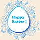 Easter Background with Blue Flowers - GraphicRiver Item for Sale