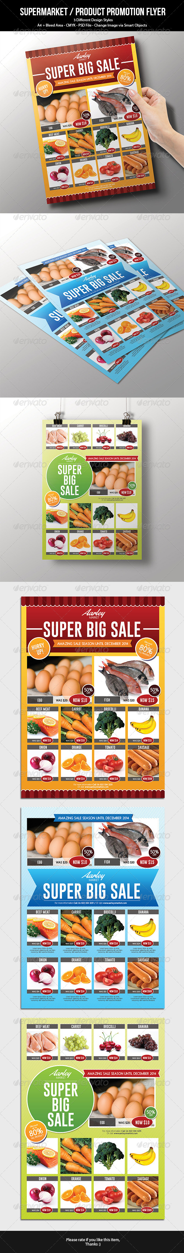 GraphicRiver Supermarket Product Promotion Flyer 7245418