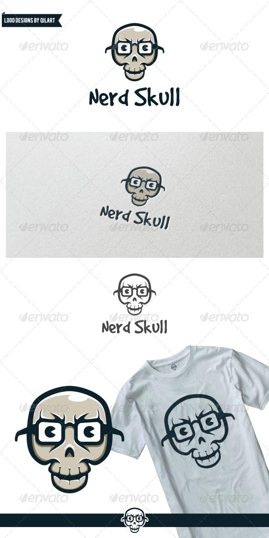GraphicRiver Nerd Skull 7245865