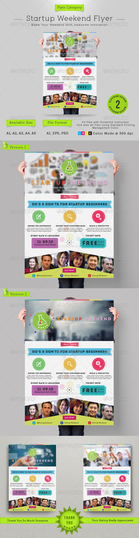 GraphicRiver Startup Weekend Flyer 7245869