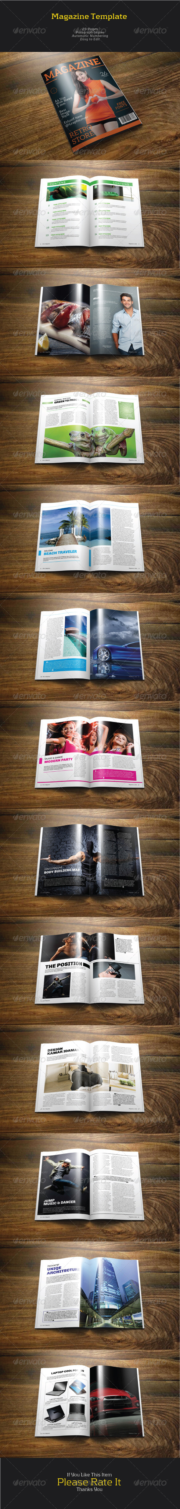 GraphicRiver Magazine Template 7245910