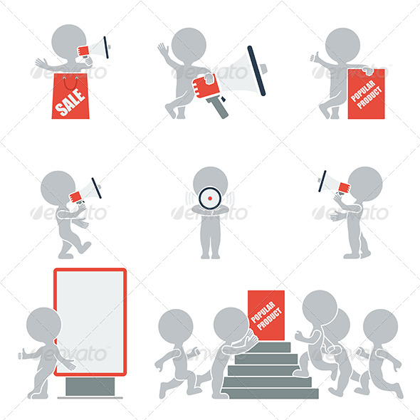 GraphicRiver Flat People Promotion 7245920