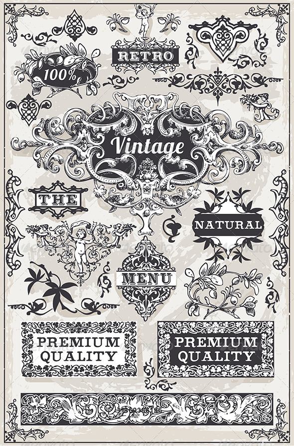 GraphicRiver Vintage Hand Drawn Graphic Banners and Labels 7245921