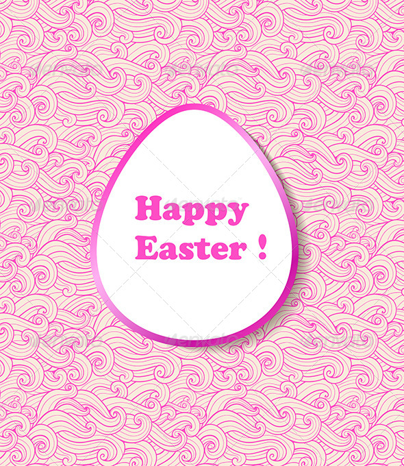 GraphicRiver Decorative Vector Easter Banner 7245926