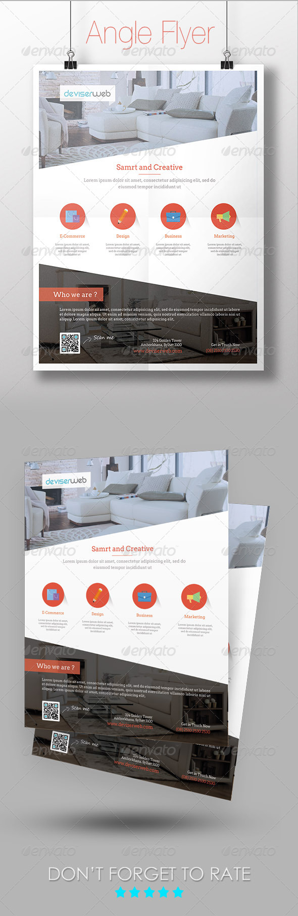 GraphicRiver Angle Multipurpose Flyer Template 7245927