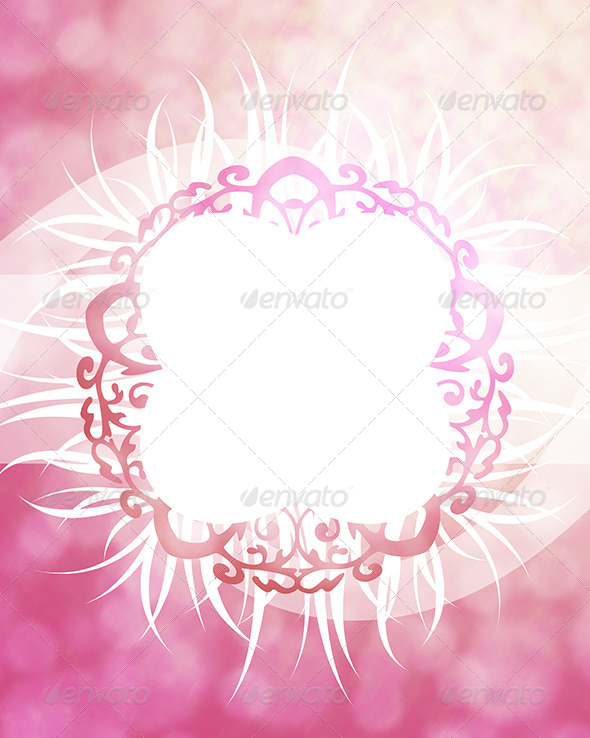 GraphicRiver Pink Frame Background 7246225