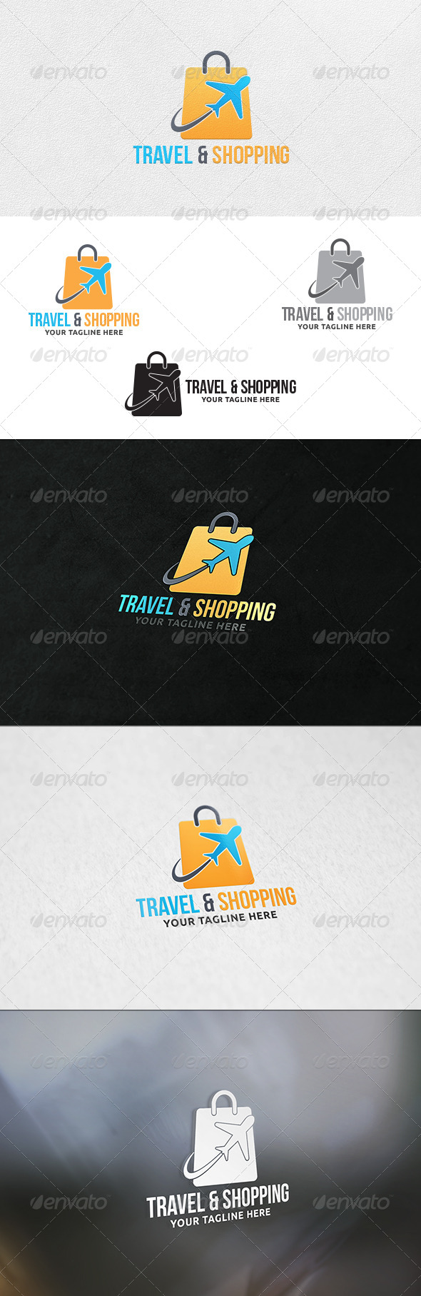 GraphicRiver Travel and Shopping Logo Template 7246414