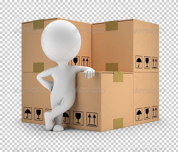 GraphicRiver 3D Small People Delivery of Goods 7246593