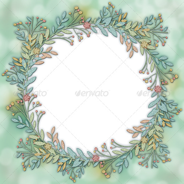 GraphicRiver Wreath Frame Background 7246716