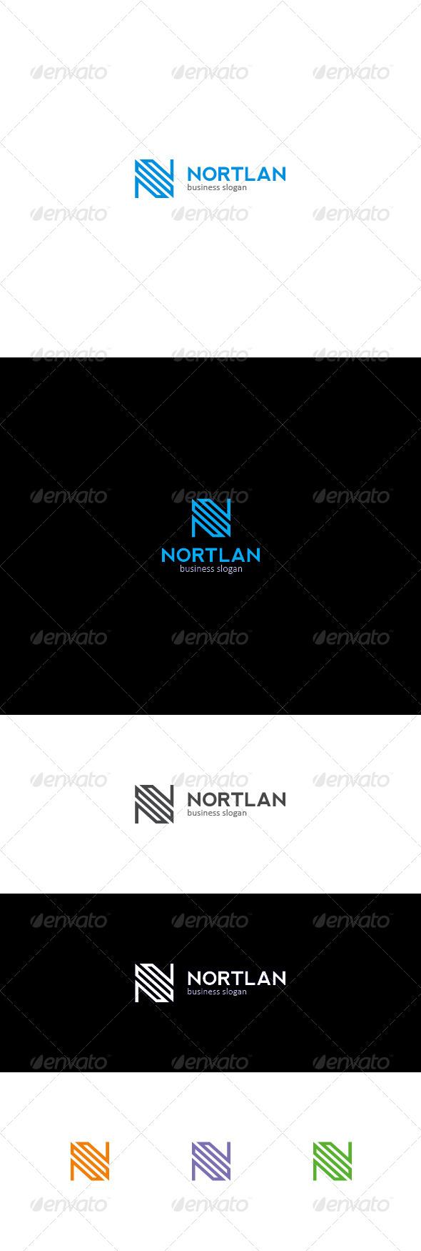 GraphicRiver N Letter Logo NORTLAN 7246910