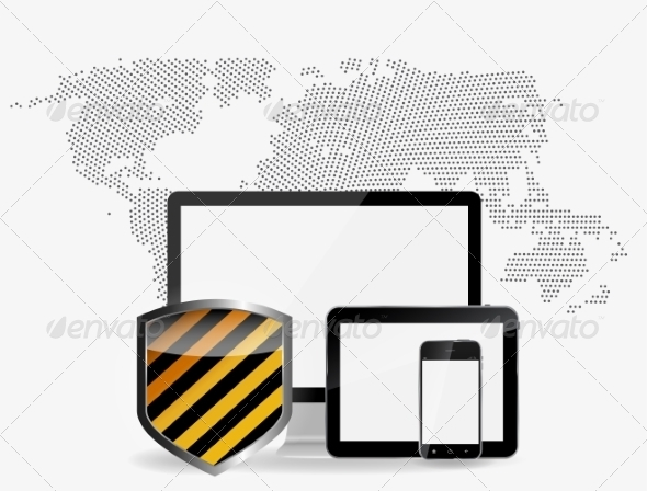 GraphicRiver Internet Security Icon Vector Illustration 7247164
