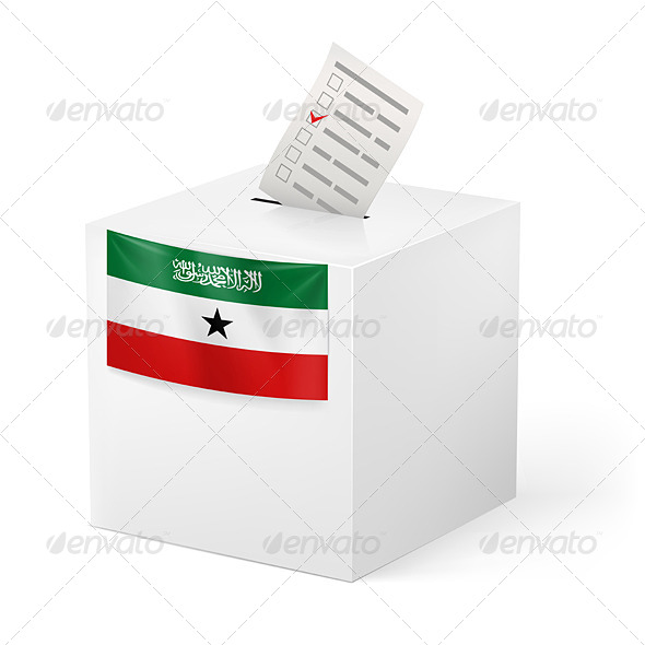 GraphicRiver Ballot Box with Voting Paper Somaliland 7247947