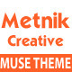 Metnik One Page Muse Theme - ThemeForest Item for Sale