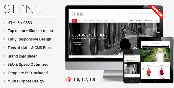 ThemeForest Shine Responsive Multipurpose Magento Theme 7248655