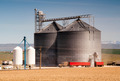 Agricultural Silo Loads Semi Truck With Farm Grown Food Grain - PhotoDune Item for Sale