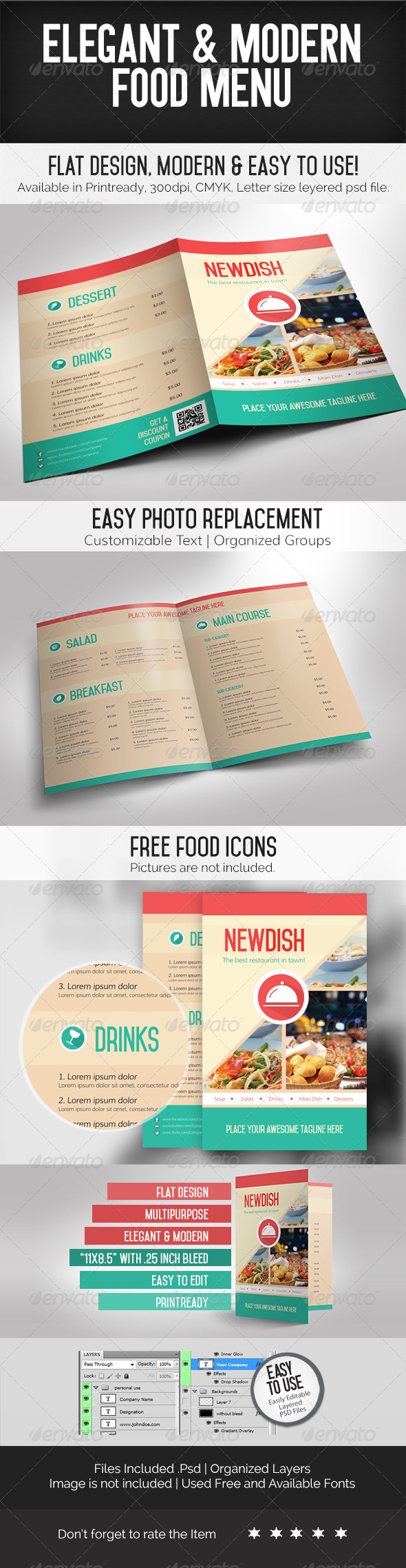 GraphicRiver Elegant & Modern Food Menu 7248810