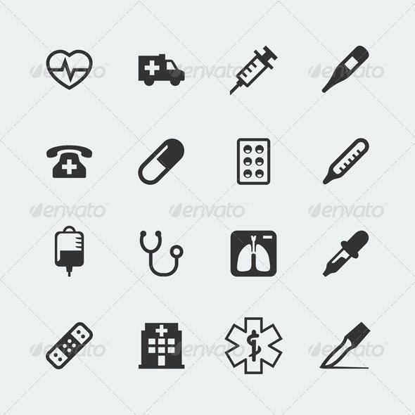 GraphicRiver Medical icons 7163410