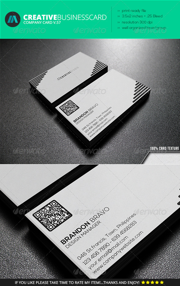 GraphicRiver IntenseArtisan Business Card Vol.57 7249539