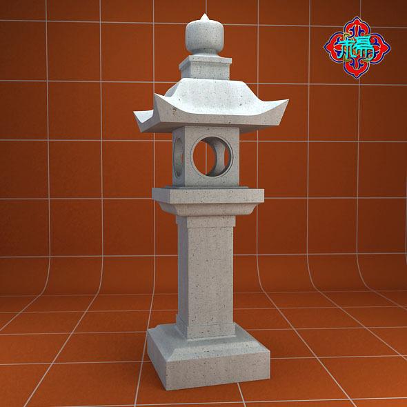 3DOcean Stone lamp A 7249679