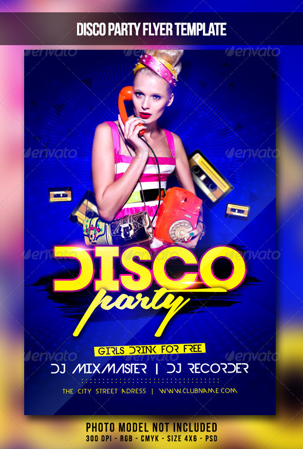 GraphicRiver Disco Party Flyer 7182761