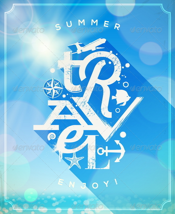 GraphicRiver Summer Travel Lettering Design 7249693